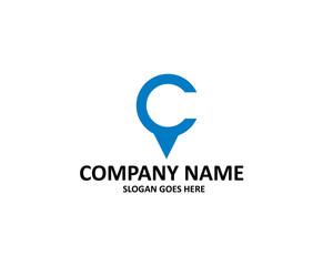 c letter point logo