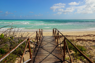 Playa Pilar beach on Cayo Coco island in Cuba