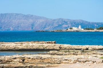 Most beautiful places of Crete. Greece. Beautiful beach in Crete