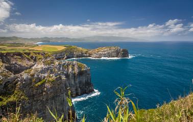 View on Atlantic Ocean Coast, Sao Miguel island, Azores, Portugal Fototapete