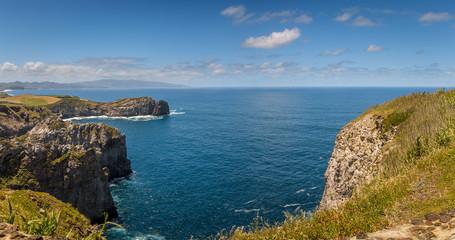 View on Atlantic Ocean Coast, Sao Miguel island, Azores, Portugal