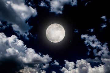 moon night sky dark full clouds background