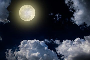 moon night sky dark full clouds background