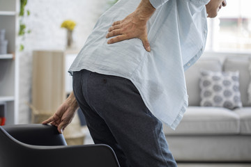 Old man with back pain