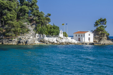 Panagia Island in Parga, Greece - Old Orthodox Church