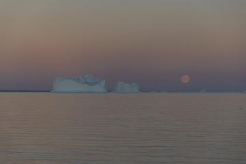 Moonrise in Greenland