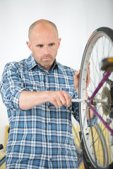 mending the bike