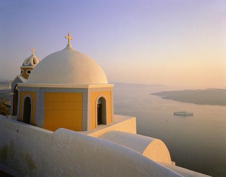 Churches inSantorini, Greece
