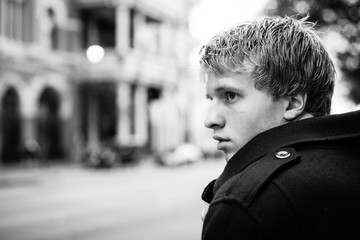 Young Man Alone in the City