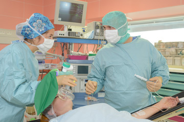 administering the anesthesia