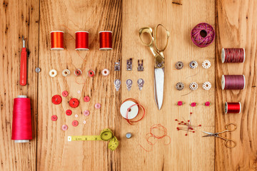 Collection of Assembled Sewing Notions