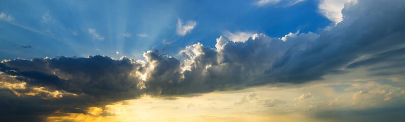 sunset sky clouds panorama.