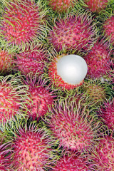 Asia, Malaysia, Lycee fruits in a market stall
