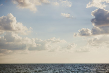 Morning clouds over the Caribbean Sea