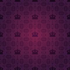 Purple Pattern Royal Wallpaper