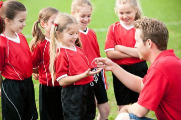 Soccer: Girl Gets Soccer Award