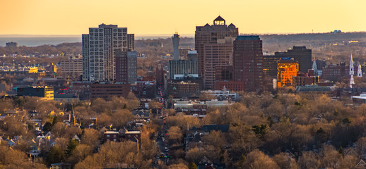 Zelfklevend Fotobehang Diepbruine New Haven