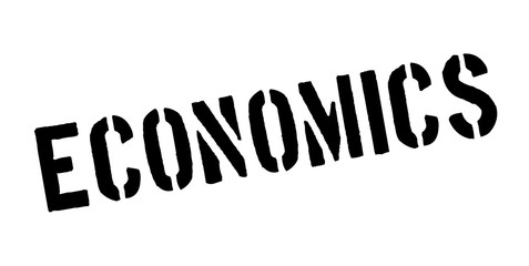 Economics rubber stamp. Grunge design with dust scratches. Effects can be easily removed for a clean, crisp look. Color is easily changed.