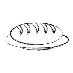 dish with bread icon vector illustration design