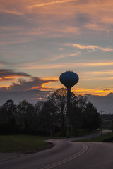 Water Tower Silhouetted