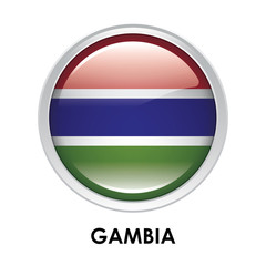 Round flag of Gambia