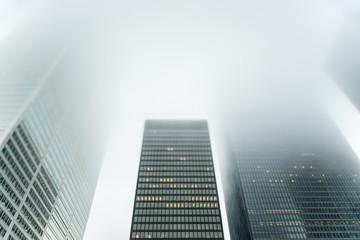 Skyscraper from a big financial area in Toronto