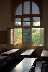 Old classic school classroom