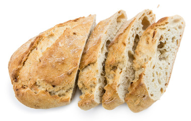 Baguette isolated on white