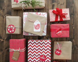 Holiday Gift Wrapping Background