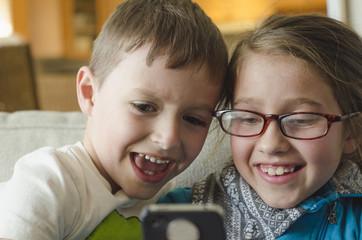 kids and technology camera phone