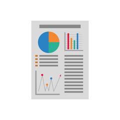 Statistics bars graphic