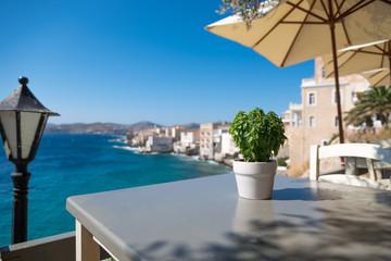 Ermoupoli, Capital of Syros island = Greece.