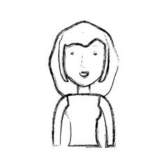 Young woman cartoon