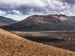 Volcano Landscape in Lanzarote's Timanfaya National Park