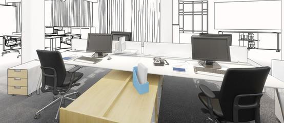 Büroeinrichtung Projekt (panoramisch)