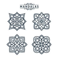 Mandala Set Tribal Ornament Pattern Decorative Flower Business Template Collection