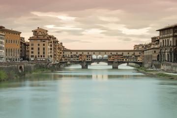The famous bridge: Ponte Vecchio, Florence, Tuscany,Italy