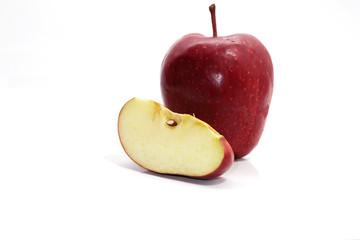 red apple on white blackground