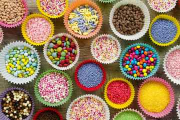 Cake decorations and sprinkles