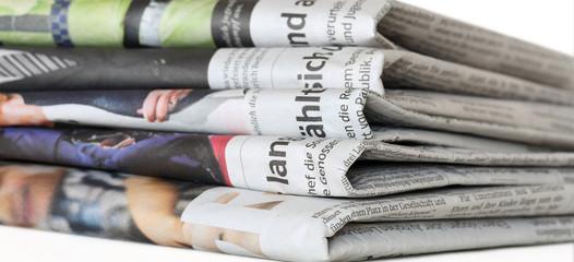 Various regional German daily newspapers