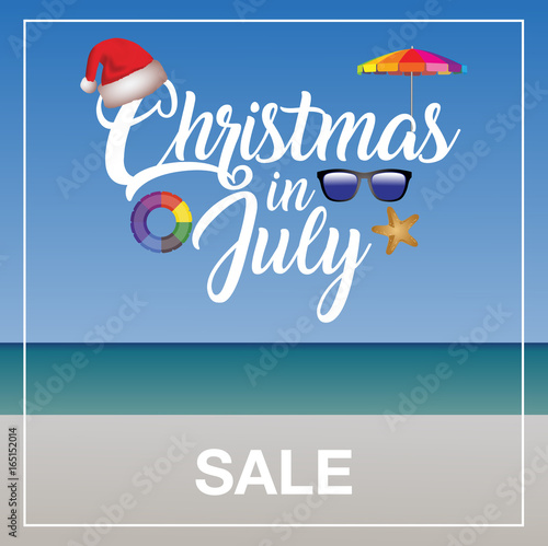 Christmas In July Clipart Free.Christmas In July Sale Marketing Template Stock Image And