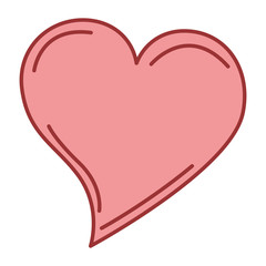 heart love card icon vector illustration design