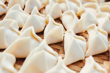 Making dumplings,to celebrate the Spring Festival