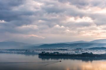 Pamvotis Lake at Ioannina, Greece