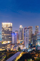 Cityscape view of modern office business building in business zone at Bangkok,Thailand. Bangkok is the capital of Thailand and also the most populated city in Thailand.