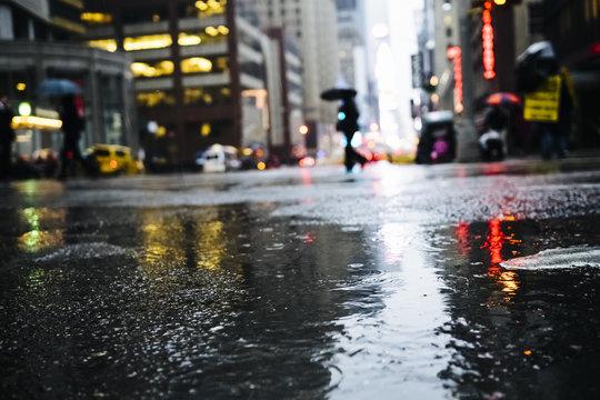 Raining in Manhattan, New York City