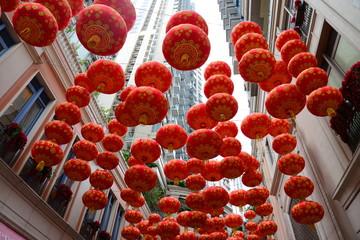香港リートン・アベニューの提灯