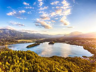 Faaker See in Kärnten, Österreich