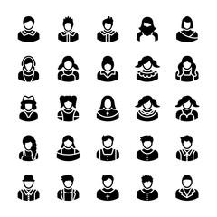 Avatars Glyph Vector Icons 6