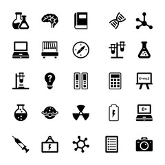 Science and Technology Glyph Vector Icons 10